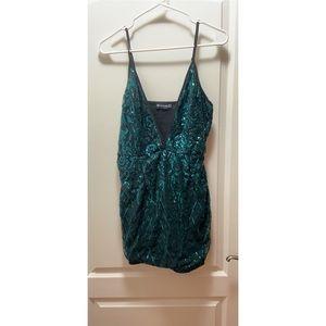 PrettyLittleThing Green Sequin Dress